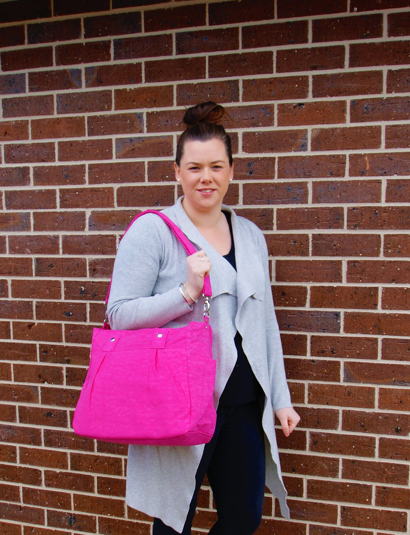 Teacher Carry All bag, Teacher bag-Hot Pink Water Resistant-Teacher Bag-Teacher Carry All