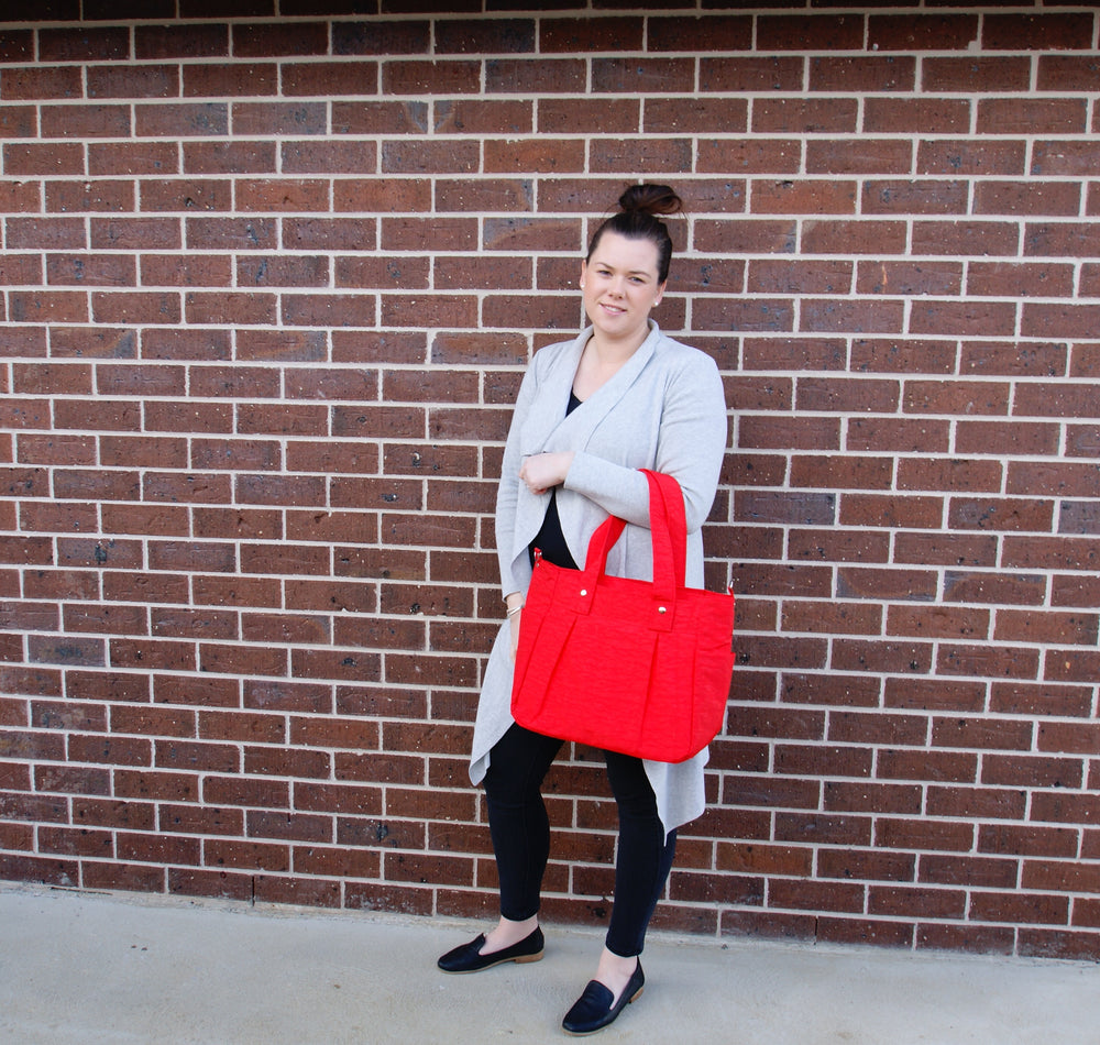 Teacher Carry All bag, Teacher bag- Red Water Resistant-Teacher Bag-Teacher Carry All
