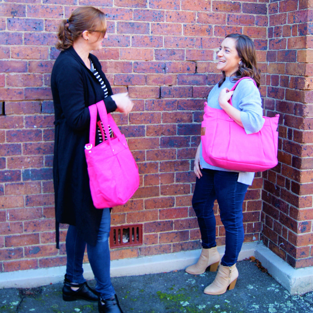 Pink Teacher Carry All bag, Teacher bag- Water Resistant (hot pink)