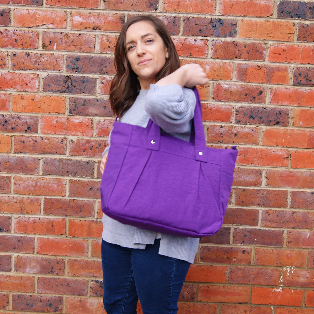 Purple Teacher Carry All bag, Teacher bag -A4 Water Resistant - Teacher Carry All
