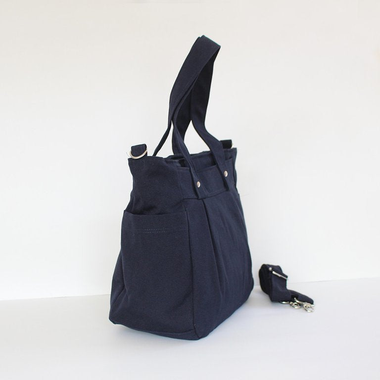 Teacher Carry All bag, Teacher bag - Navy Cotton Canvas - Teacher Carry All