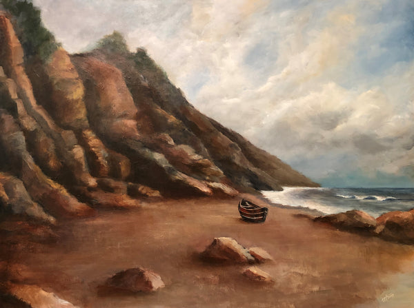 California Coast No. 6 - Red Boat