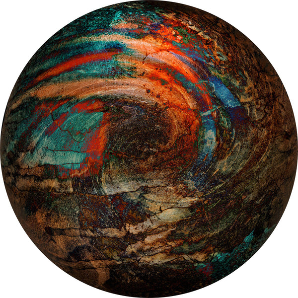 """Smoldering Planet"" Photo on Metal by Nancy Roux"