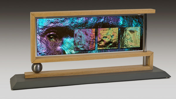 """Strange Faces in Strange Places"", Mantelpiece Works™ by Nancy Roux"