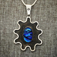 Silver and Dichroic Glass Pendant