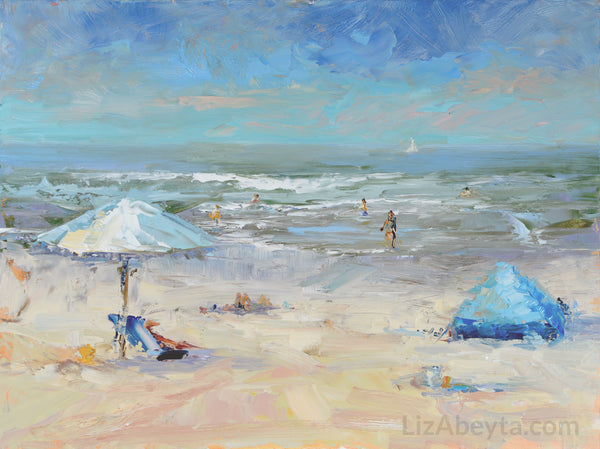 """Beach Day"" painting by Liz Abeyta"