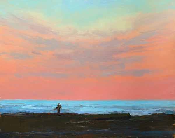 """Sunset Surfer"" painting by Liz Abeyta"