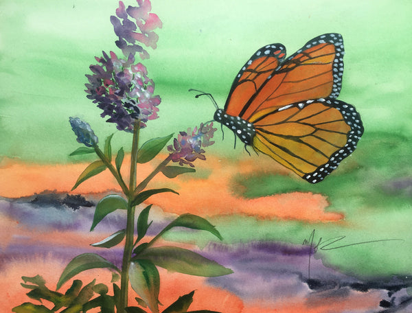 """Butterfly & Buddleia"""