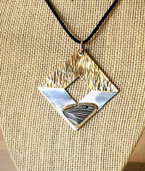 Triangle Square Pendant by Joe McFaul