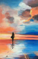 """Claire in Laguna Beach"" - Original Held in Private Collection - Giclees Available"