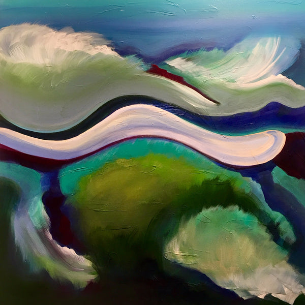 """Reef"" painting by John Hall"
