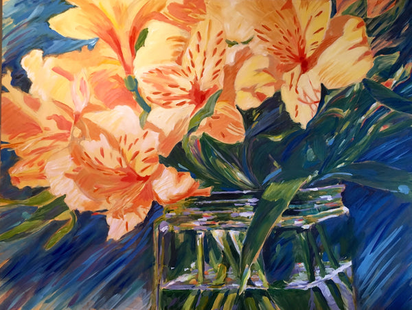 """Kathy's flowers"" painting by Marcia Hoeck"