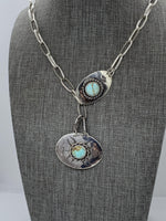 Sterling Silver Southwest-style Lariat Necklace Pendant