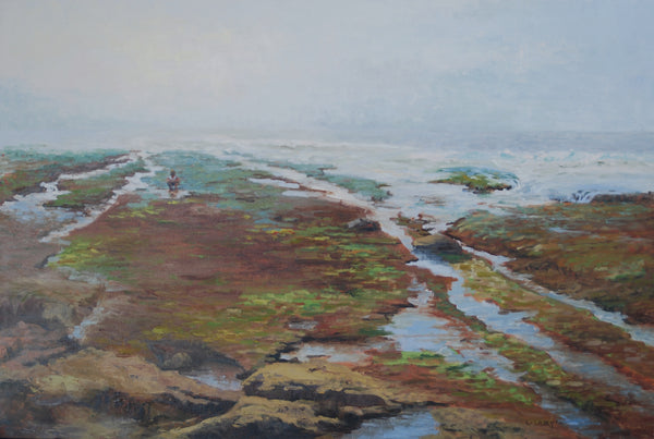 """Exploring the Tide Pools"" painting by Liz Abeyta"