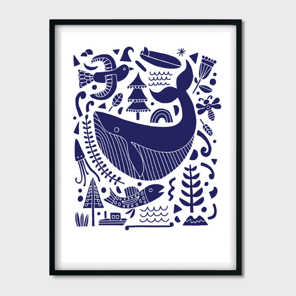 'A Friend of the Sea' Screen print (Limited Edition) by Greg Straight