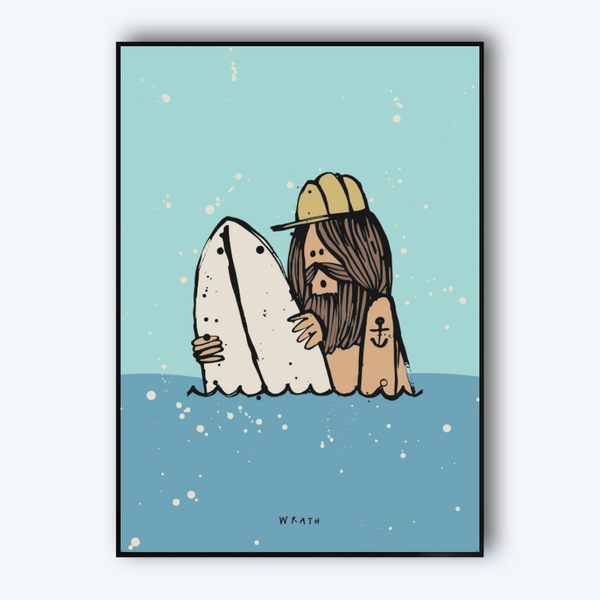 Inky Surfer by Al Wrath