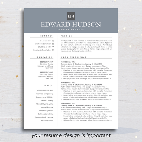 How to make a resume template, professional and modern resume and cv templates for microsoft word and apple pages