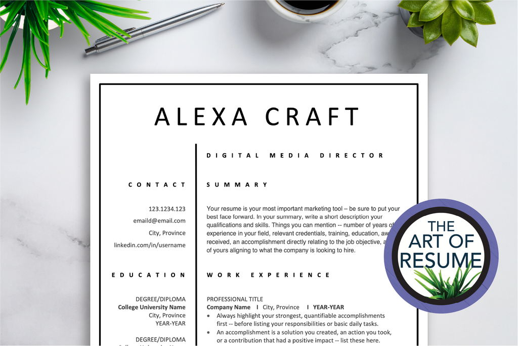 Resume Editing - Resume & CV Services with The Art of Resume