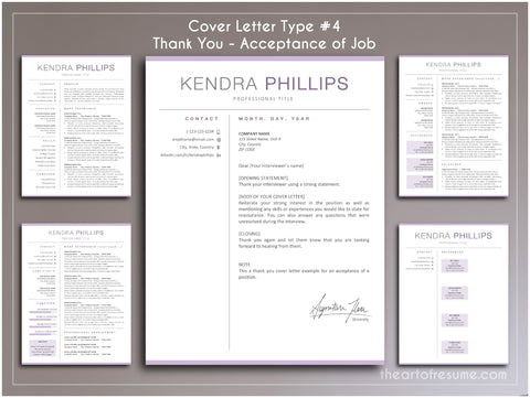 cover letter template for thank you resume templates bundle cv designs The Art of Resume FREE Cover Letter