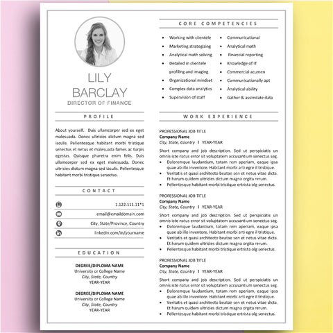 best resume template design - cv templates - instant download resumes for mac and pc - Microsoft Word and Pages - Cover Letter