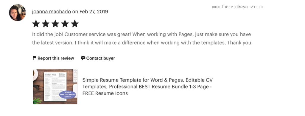 The Art of Resume Writing Reviews, Resume Template Bundles Testimonials, Review for Resume and CV Templates, Best Resume on the Online