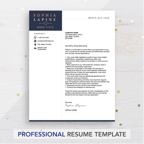 cover letter example - the art of resume writing