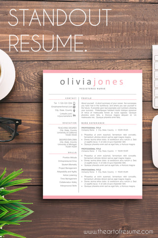professional resume template - modern cv templates - the art of resume design