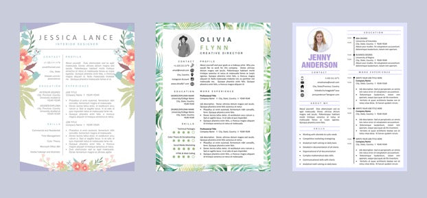 Resume Template Creative Modern CV Templates Instant Download Resumes CVs