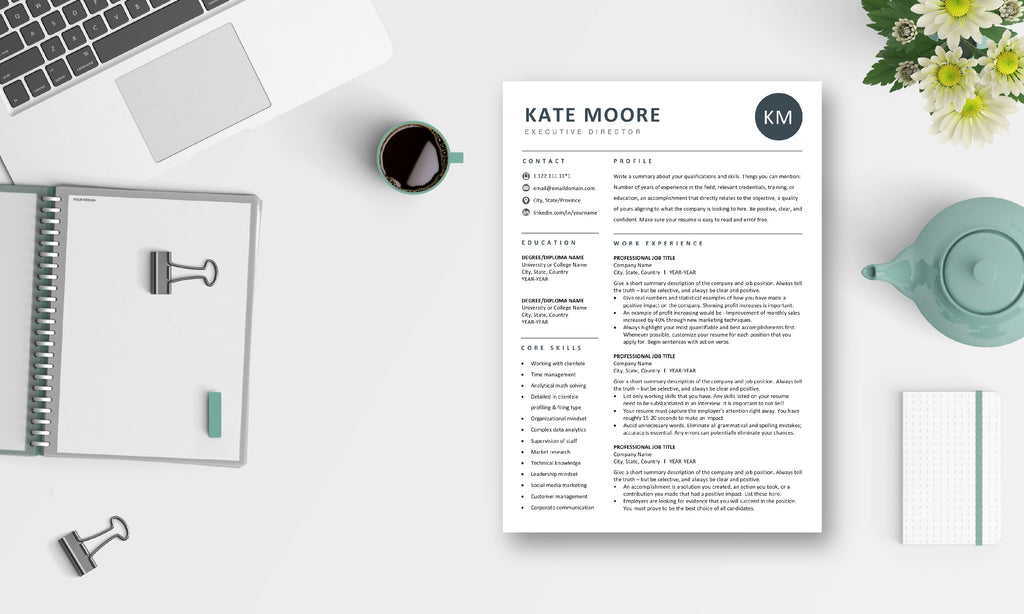 The Art of Resume - Resume & CV Template Design Bundle with Free Cover Letter