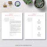 Resume Template Design for Microsoft Word and Apple Pages- Resume and Free Cover Letter