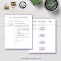 Professional Resume CV Template Bundle with Cover Letter and Reference Page