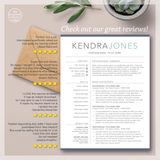 Resume Bundle Design - Resume CV Template with Free Cover Letter
