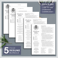 Modern Resume Template Design with Free Resume Writing Guide