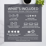 Whats Included in Your Resume Bundle - The Art of Resume - Resumes & CV Custom Templates Instantly Download