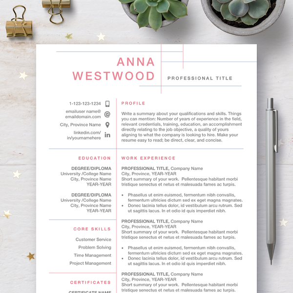Professional CV Templates - Modern Resume [FREE Resume Writing Guide]