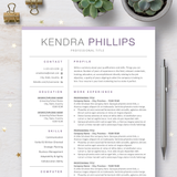 Professional Resume CV Template Bundle with Cover Letter