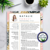 Creative Resume Template for Fashion, Designer, Blogger, Feminine, Artist, Stylist