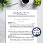Simple Resume CV Template Instant Download Bundle with Free Cover Letter