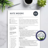 Professional Resume Template Builder Bundle with Free Cover Letter - The Art of Resume