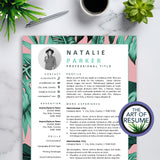 Creative Resume Template for Fashion, Blogger, Designer, Artist, Stylist