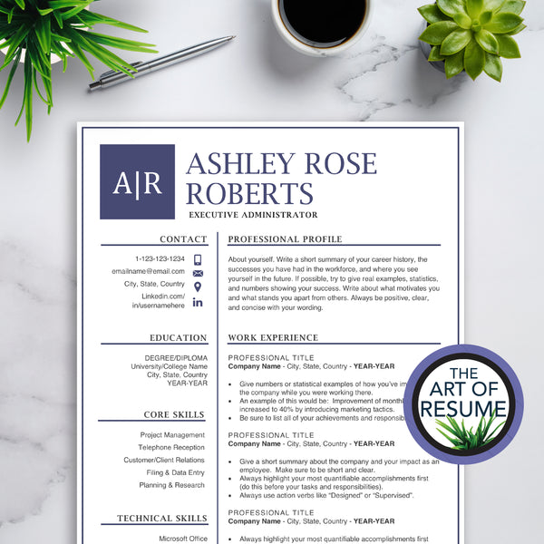 Best Professional Resume & CV Template Design 2020
