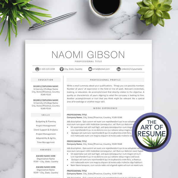 Professional Resume Template | Simple Resume with Cover Letter