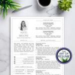 Resume CV Template with Photo Insert, Resumes with Cover Letter