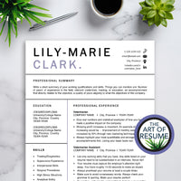 Veterinary Resume CV Template for Word & Pages - Vet Technician Resumes