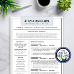 Simple Resume Template with Light Blue with Free Cover Letter