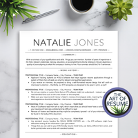 ATS-Friendly Resume CV Template Bundle with Free Resume Writing Guide - Mac & PC