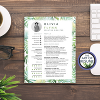 Floral Resume Template | Creative CV with Profile Photo