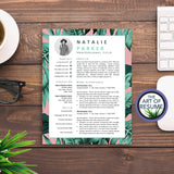 Creative Resume CV for Stylist, Fashion, Blogger, Retail, Artist