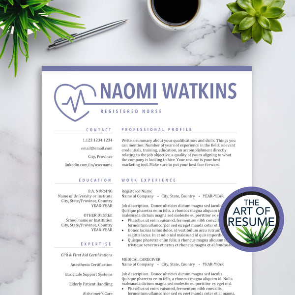 Medical Resume for Nurses, RN Nurse, Doctor CV Template Design, ETM, Medical College Graduate Resumes