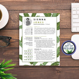 Creative Resume CV Design Template for Fashion, Blogger, Retail, Stylist, Artist